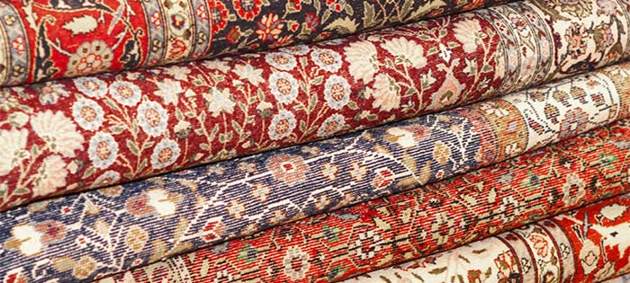 Red & Blue oriental rugs