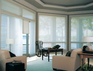 Hunter Douglas window treatments at a home in Saratoga